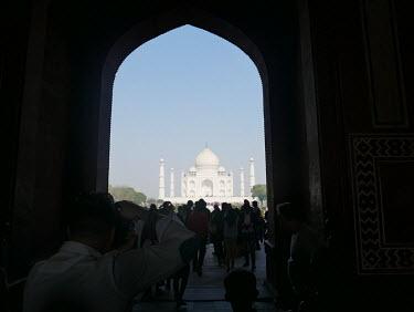 Taj Mahal, taken on 10 January 2018 in Agra, Uttar Pradesh, India