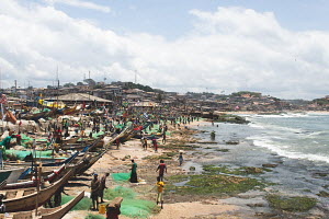 A vibrant fishing community in Cape Coast, Ghana