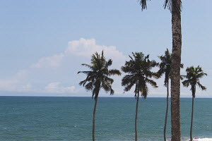 A view of the ocean from Cape Coast