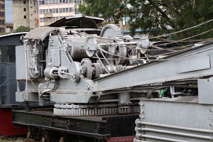 Part of a train at the Nairobi Railway museum