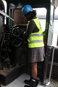 Stacy Koki working at the railway station in Nairobi