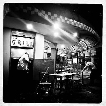 A café closes in Rio de Janeiro, Brazil