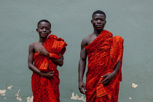 Osofo and Addai in their traditional clothes