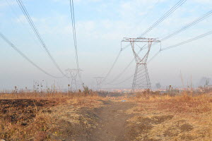 Powerlines, Edenpark, East of Johannesburg, Open field,