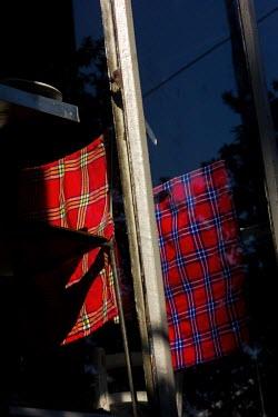Masai cloth, clothesline, Maboneng