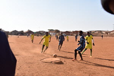 Mighty Kings football club, Phola Park, football ground, dusty ground, sewage drain, Siblings football club, Thokoza, Extension 2