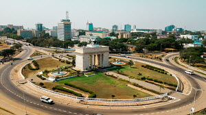 Aerial view of Independence Square, Ghana